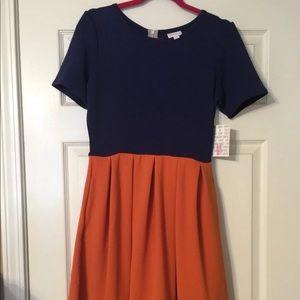 LuLaRoe Women's Amelia M Color Blocked Dress NWT